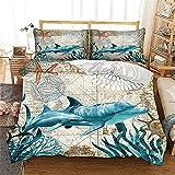 Juego de ropa de cama de 3 piezas, decoración para habitación infantil que se adapta a la piel, Juegos de fundas para edredón de microfibra