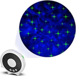 Starry Night Light — Galaxy Cross-Star Projector, Sharp Winking Cross Star Laser Light + Transforming Space LED Back Group...