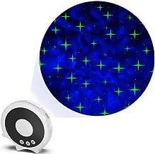 Starry Night Light — Galaxy Cross-Star Projector, Sharp Winking Cross Star Laser Light + Transforming Space LED Back Group...