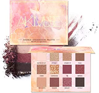 AIKIMUSE Eyeshadow Palette 12 Colors Glitter Eye Shadow With 6 Matte + 6 Shimmer,Long Lasting Waterproof Pigmented Make Up Eyeshadow Palette