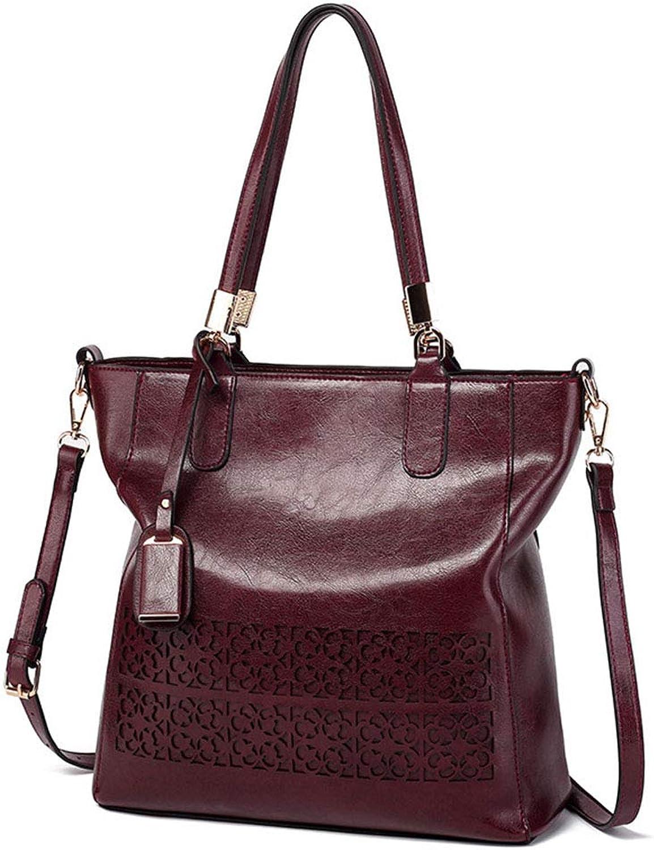 Ladies Handbag Fashion New Crossbody Bag Women's Hollow Large Capacity Shoulder Bag(FM)