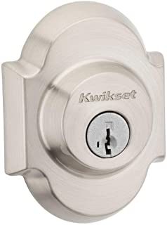Kwikset 980AUD 15 SMT RCAL RCS 980AUD-S Austin Series Single-Cylinder Deadbolt Featuring SmartKey Techn, Satin Nickel