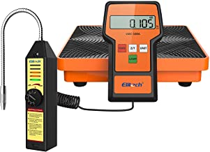 Elitech WJL-6000S Refrigerant Leak Detector Freon Leak Detector + LMC-100A Refrigerant Charging Scale HVAC AC R134awith Carrying Case 220lbs