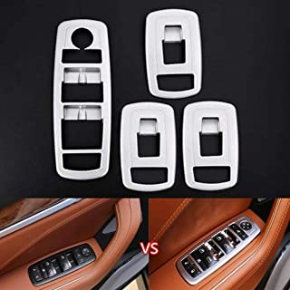 CYBHR Car Door Armrest Window Lift Adjust Button Switch Cover Frame Trim Stickers,For Maserati Levante Styling Car-cover
