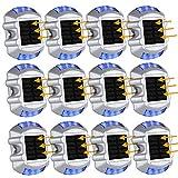 LEDMO Upgraded Solar Deck Lights Solar Powered Outdoor Waterproof Solar Dock Lights 4 Pack(Blue)