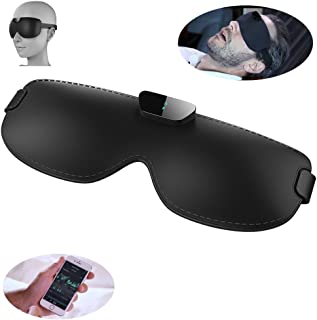 Sleep Mask with Anti-snoring Device & Blindfold-Natural Silk Snore Circle Eye Mask for A Full Night's Sleep,Comfortable and Super Soft with Adjustable Strap,Works with Every Nap Position