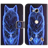 TienJueShi Wolf Book-Style Flip Leather Protector Case