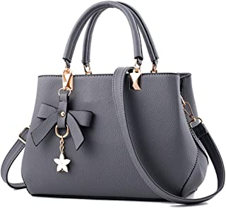 Heyean Shoulder Bags Handbag for Women Faux Leather Solid Color Fashionable Casual Shoulder Crossbody Bag for Mobile Phone Keys Travel Party
