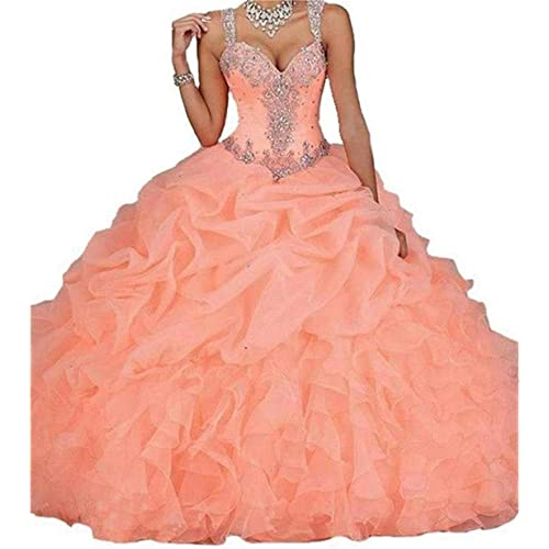 Dydsz Women's Quinceanera Dresses 2019 Ball Gown Sweet 16 Prom Dress Plus Size D18