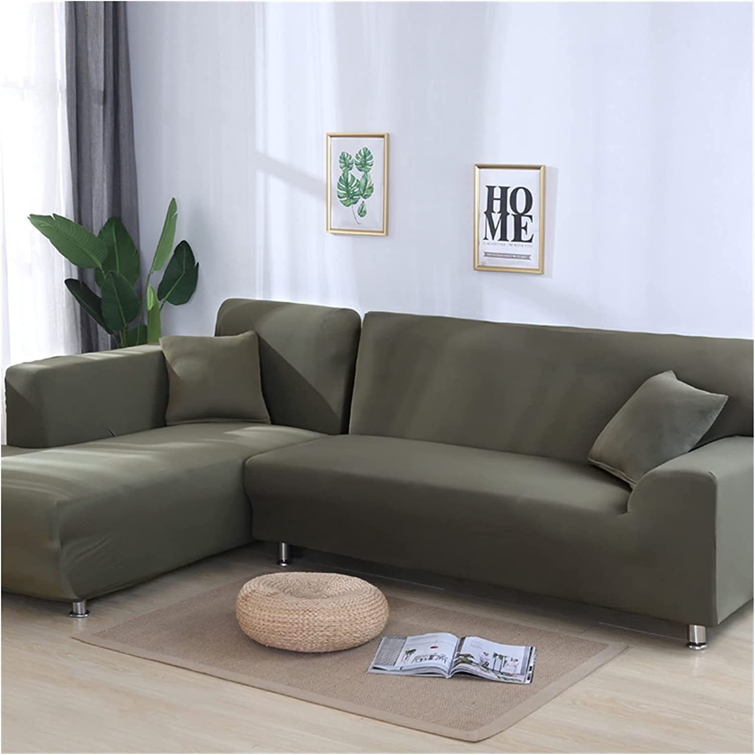 ZHBO Solid Color Fees free Elastic slipcovers Couch Sofa To Cover Trust Stretch