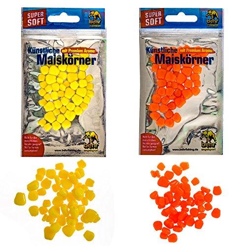 Kunstmais Kunstköder Set künstliche Maiskörner 2 Farben im Set Top Karpfen Köder Angel Mais