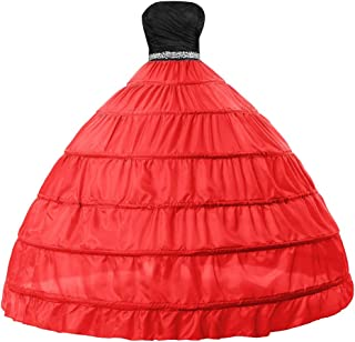 Edith qi Bridal Dress Gown Half Slip 6 Hoop Petticoats Wedding Crinoline Underskirt