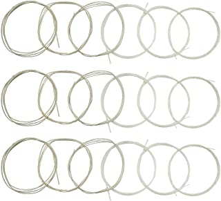 Classical Guitar Strings 3 full sets Clear Nylon for E-1st B-2nd G-3rd and Nylon Core Silver-Plated Copper Alloy Wound for D-4th A-5th E-6th