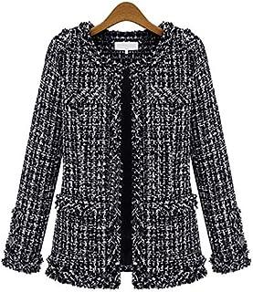 HAWEEL Women Plaid Slim Jacket Coat Windbreaker Jacket