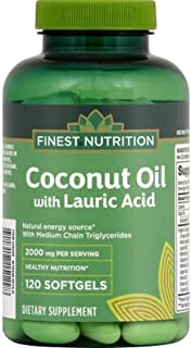 Finest Nutrition - Coconut Oil with Lauric Acid, 1000mg - 120 Softgels
