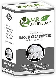 MR Ayurveda 100% Organic Kaolin Clay Powder for Acne, Blackheads & Glowing Skin, 100 Gm