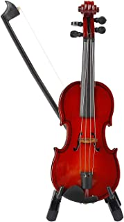 MyLifeUNIT Mini Violin with Stand Bow and Case, Wooden Musical Instrument