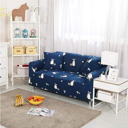SSLBOO Stretch Sofa Bezug Hussen Elastische All-Inclusive-Couch-Tasche für Verschiedene Formen Sofa Loveseat Chair L-Style Sofa-Hülle 1PC-Color 19,2-Sitzer 145-185 cm