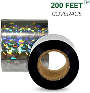 VisualScare 防鳥ホログラムテープ【2倍量でお得・3Dホログラフィック効果で害鳥を寄せつけない・北米農業生産者から幅広い支持を受ける製品】粘着面無し・大きめの幅 5cm × 60m