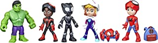 Marvel Hasbro Spidey and His Amazing Friends Hero Reveal Multipack with Mask-Flip Feature, 4-Inch Scale Action Figure Toy...