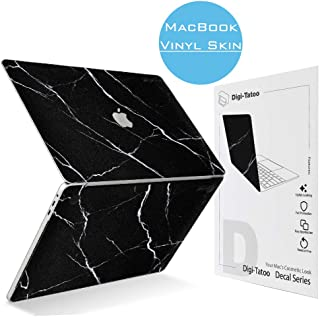 Digi-Tatoo MacBook Skin Decal Sticker Compatible with MacBook Pro inch Non-Touch Bar  Model A1708   Easy Apply Full Body Protective Vinyl Skin  Black Marble