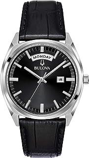 Bulova - Reloj Analógico para Hombre de Cuarzo con Correa en Cuero 96C128