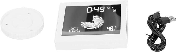 Omabeta Reloj termómetro Multifuncional 5V 1A Medidor de Temperatura Duradero Resistente al Desgaste para Mostrar el Tiempo para Mostrar la Humedad Ambiental