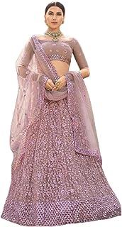 الزفاف الهندي والحفلة مصمم LILAC شبكة الترتر وخيط التطريز ليهينغا غاغرا شولي دوباتا 6032