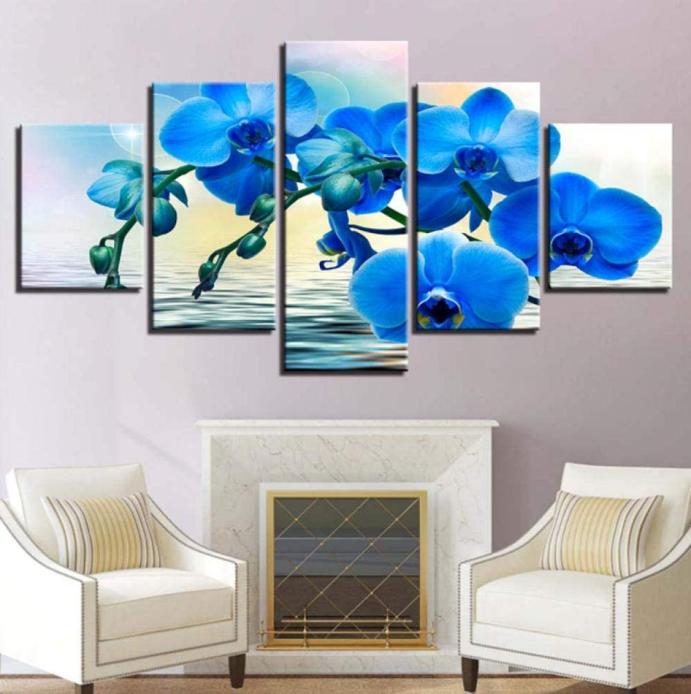 SJYHNB Canvas Wall Art Blue Painti Max 85% Limited Special Price OFF Picture Orchid Print