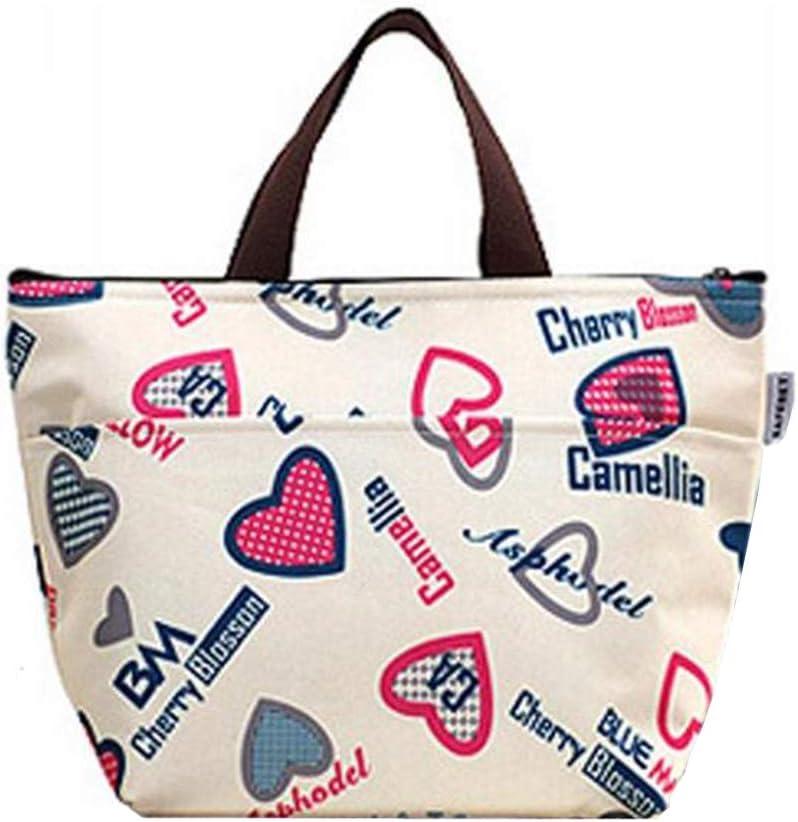 N-brand PULABO - Bolsa para el almuerzo, tela Oxford, impermeable, bolsa de pícnic, bolsa de pícnic, mantiene tu comida caliente, cremallera, estable y práctica, de alta calidad