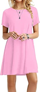 short sleeve pink dress