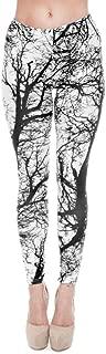 Moonasy High Waist Printed Leggings Yoga Workout Leggings for Women Girls Soft Stretchy Capris