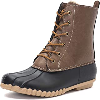 DKSUKO Women's Duck Boots with Waterproof Zipper