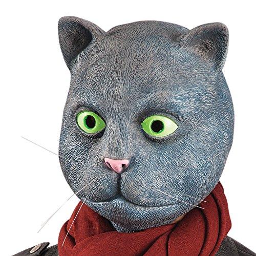 Carnival Toys - Máscara de látex gato con encabezado,