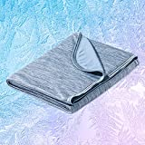 Marchpower Cooling Blanket with Japanese Arc-Chill Cooling Fiber Q-Max0.43 - Lightweight Chill Blanket Keep Cooling for Hot Sleeper and Night Sweats - Bed Couch Travel Cold Throw - Machine Washable