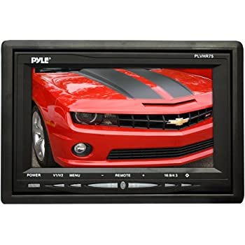 Pyle Headrest Monitor, 7-inch TFT LCD Widescreen w/ 2 Video Inputs, Wireless Remote, Cold Cathode Light, Headrest Shroud, Universal Stand Mount, Great for Road Trips, Keep Kids Entertained (PLVHR75), Black, accessory