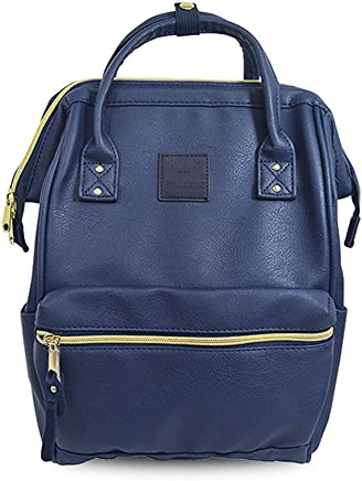 Anello AT0B1212-NV PU Leather Backpack, Small, Navy