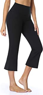 "Safort 19"" 21"" 23"" Inseam Regular Tall High Waist Capri Bootcut Yoga Pants with Pockets"