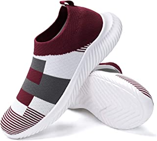 FUDYNMALC Women's Casual Walking Shoes Lightweight Breathable Mesh Athletic Running Shoes Fashion Slip-on Sock Sneakers Comfort Work