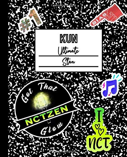 Kun Ultimate Stan: NCT Mock Sticker Filled Kpop Bias Merch Notebook 7.5 x 9.25