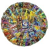 HUETIDE 120pcs Carte pour Pokémon, Jeux de Cartes,Cartes Variées Pokémon Cartes Style Jeu de Cartes Amusant de Pokémon (109GX+11TRAINER)
