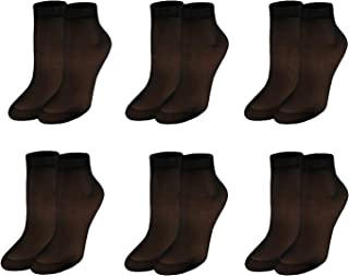 Nylon Ankle Socks | 6 pairs | Women's 20D Transparent Hosiery Socks