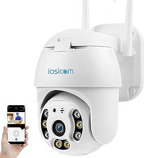 【Auto Tracking】 IOSICAM 1080P Floodlight Outdoor PTZ Dome WiFi Camera, Home Security Surveillance Waterproof IP Camera, Pa...