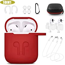 Woocon Airpods Case, 10 in 1 Airpods Accessories Set Compatible with Airpods Portable & Protective Silicone Cover
