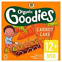 Organixは、有機キャロットケーキのシリアルバー6×30グラムをグッズ - Organix Goodies Organic Carrot Cake Cereal Bar 6 x 30g [並行輸入品]