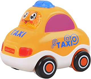 Asien Push and Go Pull Back Vehicles Friction Powered Cars Inertial Car Toys for Toddlers (Taxi)