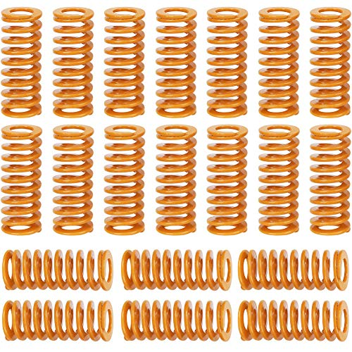 20 Pezzi Molle per Stampante 3D,riscaldato letto Molla di stampi Carico leggero a vite compressione 10x25mm per estrusore fai da te accessori scheda madre inferiore Connect livellamento