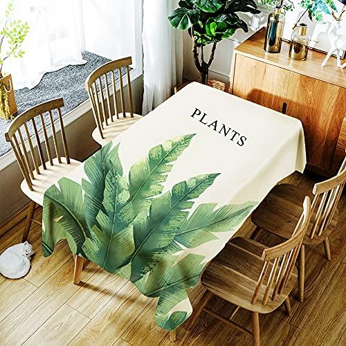 XXDD Hermoso Mantel con Estampado de Flores de Guirnalda Impermeable para el hogar, Cubierta de Mesa Rectangular Lavable a Prueba de Polvo A2 140x140cm