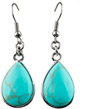 SUNYIK Women's Semiprecious Stone Dangle Earrings for Women