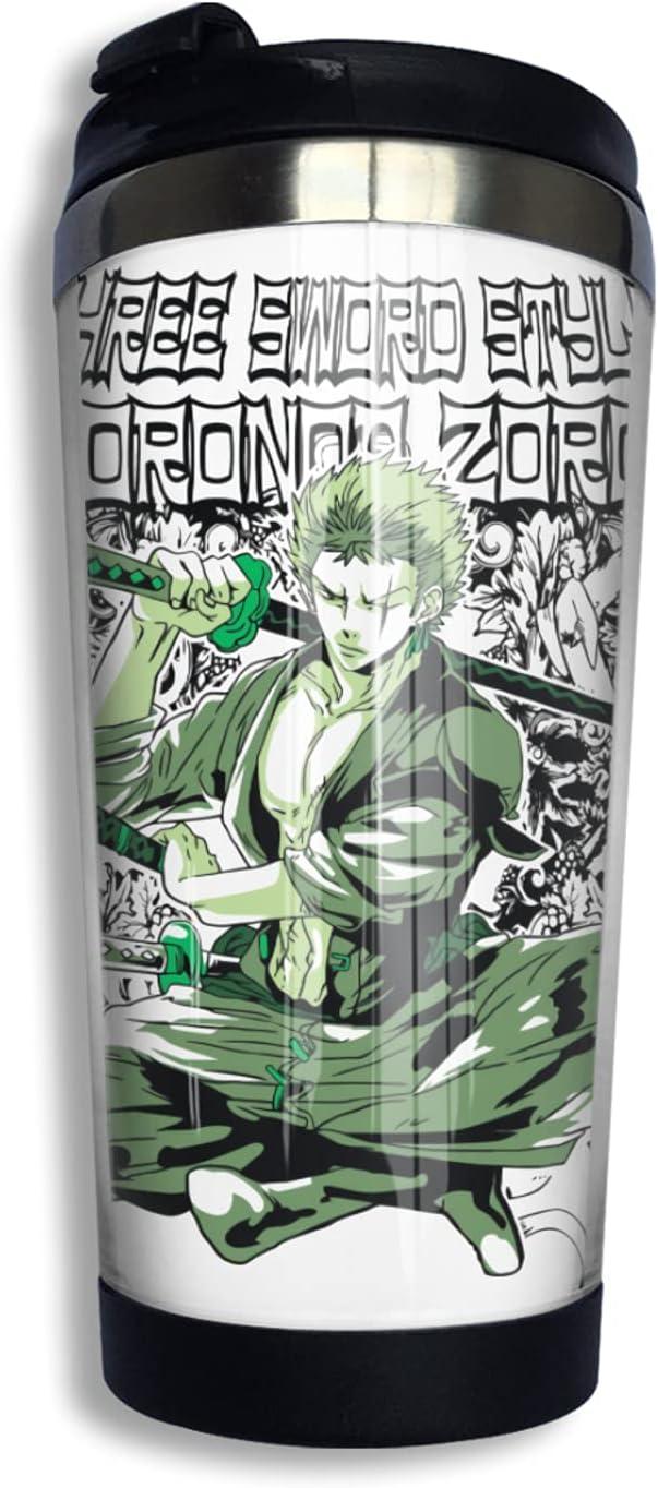 Super Houston Mall beauty product restock quality top One Piece Samurai Roronoa Zoro Anime Coffee Cup 3d Print Thermos